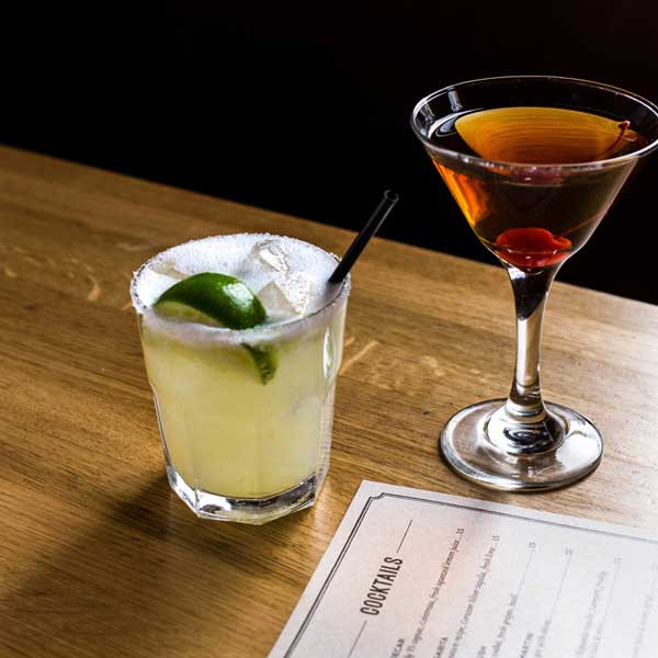 manhattan and signature margarita